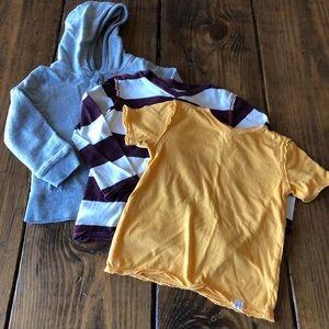 3pc Burt's Bees Organic Cotton Shirts Boys 3T